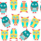 Cute Owls On Watch Repeating Pattern