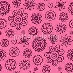 Girlish Painted Flowers Pattern Design