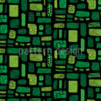 Art Garden Path Seamless Vector Pattern Design