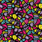 Funky Summer Party Seamless Vector Pattern Design