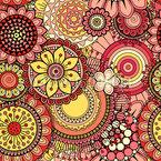 Helle abstrakte Blumen Nahtloses Vektormuster