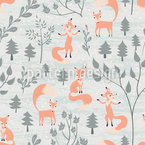 Beauty And Foxes Pattern Design