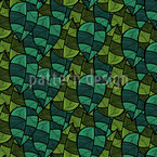 Checkered Leaves Seamless Vector Pattern Design