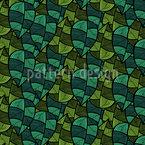 Karierte Blätter Designmuster
