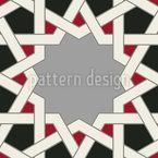 Mosaik Alhambra Wand Nahtloses Vektormuster