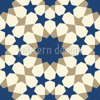 Sternenmosaik Alhambra Wand Nahtloses Vektormuster