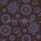 Night Flowers Vector Pattern