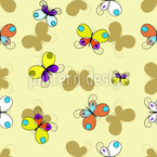 Butterflies Silhouettes Seamless Vector Pattern Design