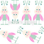 Sweet Beetles Seamless Vector Pattern