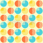 Round Objects Seamless Vector Pattern Design