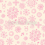 Music In The Garden Pattern Design
