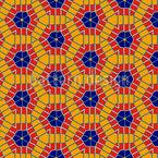 Sechseck Kaleidoskop Nahtloses Vektor Muster