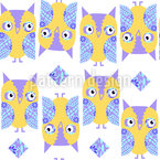 Friendly Owls Seamless Vector Pattern Design