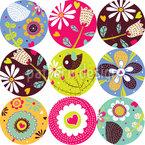 Embellished Flower Polka Dots Repeat