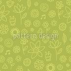 Citronelle Blumen Nahtloses Vektormuster
