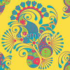 Paisley amigable Estampado Vectorial Sin Costura
