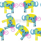 Lovely Elephants Seamless Pattern