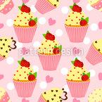 Cupcake Himmel Nahtloses Vektormuster