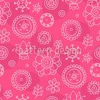 Girls Garden Seamless Vector Pattern Design
