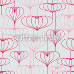 Romantic Heart Lanterns Seamless Vector Pattern Design
