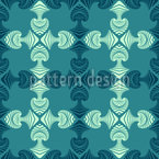 Maori Diver Seamless Vector Pattern Design