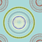 Ornamental Circles Seamless Vector Pattern Design