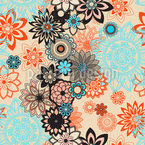Desert Flower Seamless Vector Pattern Design