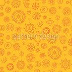 Sunny Garden Seamless Pattern