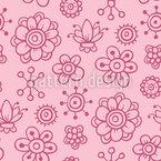Girls Garden Dreams Seamless Vector Pattern Design