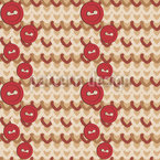 Knitting With Buttons Seamless Vector Pattern Design