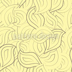 Drawn Leaves Vector Ornament
