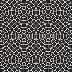 Cercles Mosaïque Motif Vectoriel Sans Couture