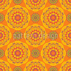 Exotic Mandala Burst Seamless Vector Pattern Design
