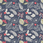 Winter Berry Pattern Pattern Design