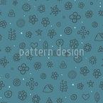 Arctic Flower Meadow Seamless Pattern