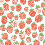 Cartoon Himbeeren und Erdbeeren Rapport