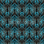 Black Maori Seamless Vector Pattern Design