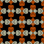 Fashionable Maori  Seamless Vector Pattern Design