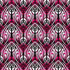 Pink Maori Seamless Vector Pattern Design