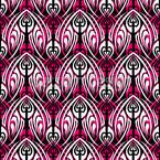 Pink Maori Seamless Pattern