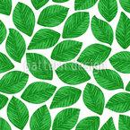 Gestempelte Blätter Nahtloses Vektormuster