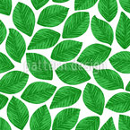 Stamped Leaves Seamless Vector Pattern Design