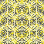Hellgrünes Maori Nahtloses Vektor Muster