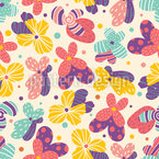 Fantasy Summer Flowers Design Pattern
