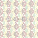 Formas arredondadas Design de padrão vetorial sem costura