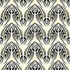 Weisses Maori Nahtloses Vektormuster