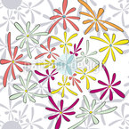 Comic Blüten Nahtloses Vektormuster