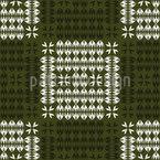 Chifres e Folhas Xadrez Design de padrão vetorial sem costura