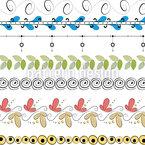 Viele Verzierte Streifen Nahtloses Vektormuster
