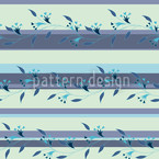 Ines Blue Seamless Vector Pattern Design